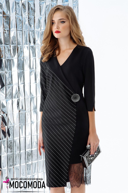 Черное универсальное платье с декоративными элементами.Недорого в ... 00327050634