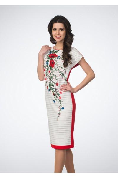 Платье женское цветы стрейч asv