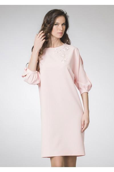ASV Женское светло-розовое нарядное,вечернее платье