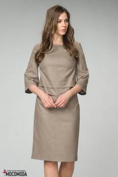 Женский костюм-комплект песочного цвета