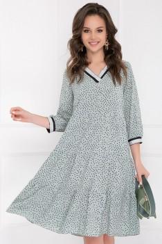 Платье Фошиана минт с принтом