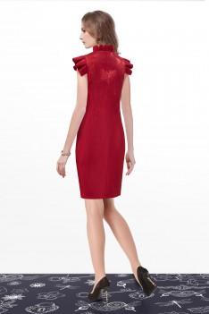 Нарядное платье бордо с искрой