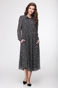 Платье черно-белое Koko