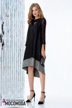 Стильное свободное двойное платье