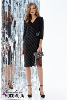 Черное универсальное платье с декоративными элементами