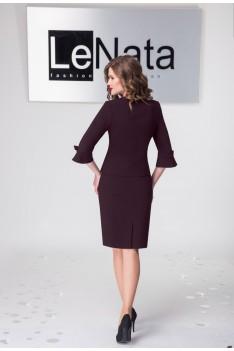 Женский деловой костюм бордо, жакет+юбка+блуза