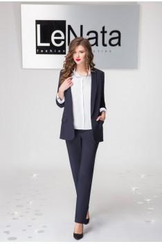 LeNata Брючный женский костюм (жилет, рубашка, брюки)