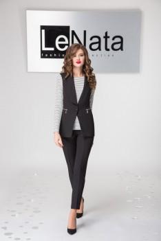 LeNata Брючный женский костюм (жакет, рубашка, брюки)
