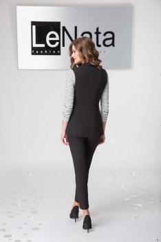 Брючный женский костюм (жилет, рубашка, брюки)