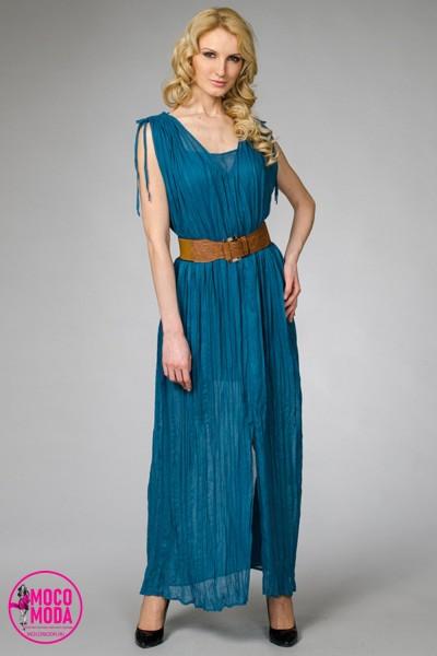 Темно-бирюзовое летнее платье хлопок