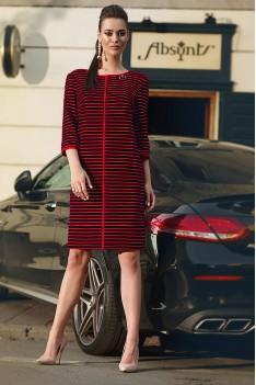 Lyushe черно-красное платье прямого силуэта.