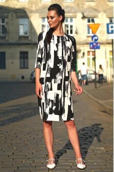 Lyushe платье женское черно-белый орнамент