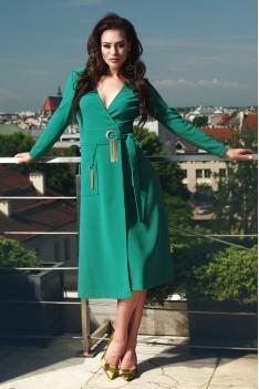 Lyushe платье женское изумруд