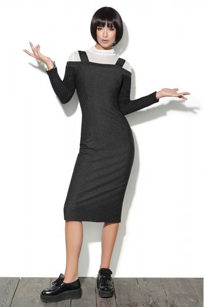 Lyushe Женский комплект из платья в мелкую полоску