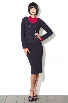 Lyushe Элегантный костюм-тройка жакет+блуза+юбка. Париж