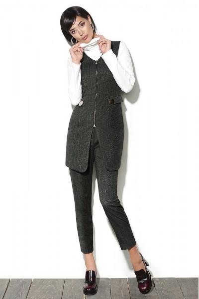 Lyushe Костюм тройка с удлиненным жилетом+блуза+брюки