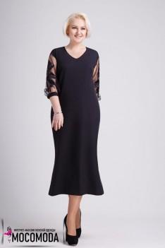 Вечернее черное платье-престиж