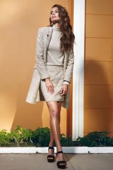 Vesnaletto Деловой стиль. Женский костюм кардиган+юбка+блуза