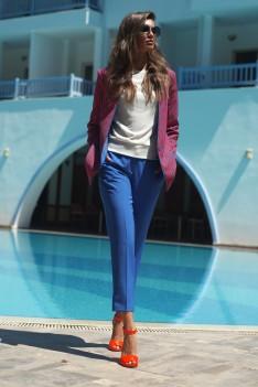 Vesnaletto Брючный женский костюм, эксклюзив, жакет+брюки+блуза