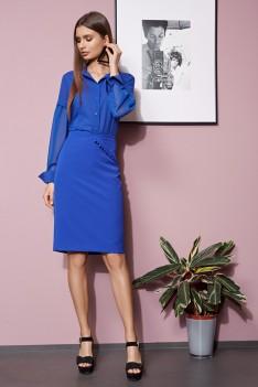 Vesnaletto Синий женский юбочный костюм юбка+блуза