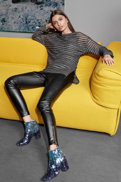 Vesnaletto Модный джемпер в полоску свободного силуэта